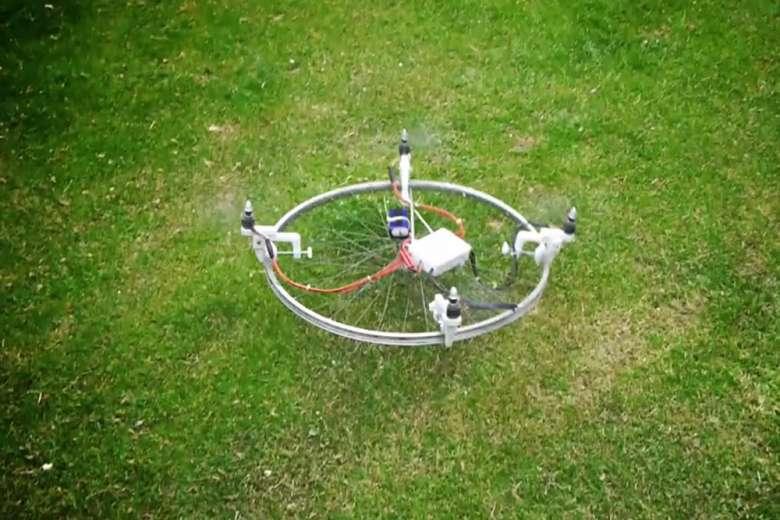 自転車の車輪やキーボードをドローンにできるドローン・キット