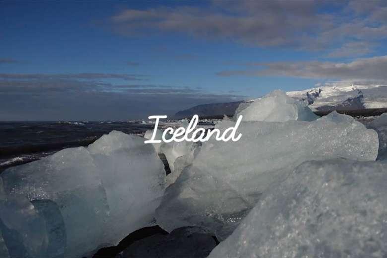 ドローンで撮影した美しいアイスランド南部の大自然