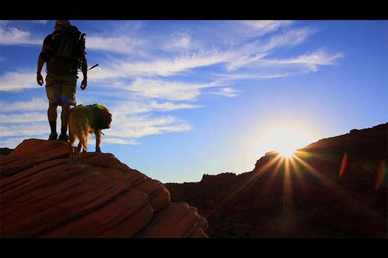 愛犬を旅のパートナーに、秘境をめぐる冒険をドローンで空撮