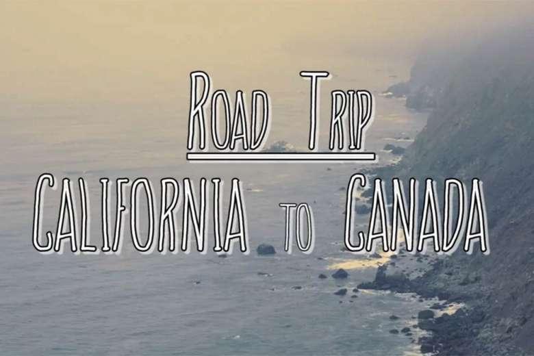 すべてバンで海岸沿いを仲間と一緒に旅行した、カリフォルニアからカナダへのドローントリップ