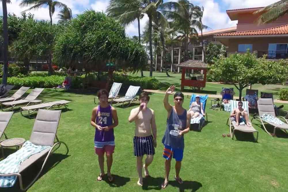 ドローンを持って男子旅 In ハワイ