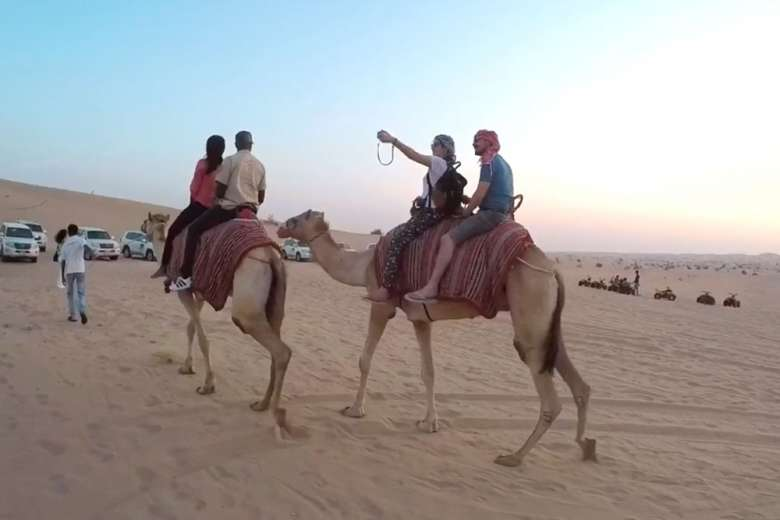 砂漠、遺跡、超高層ビル、中東の魅力満載の映像