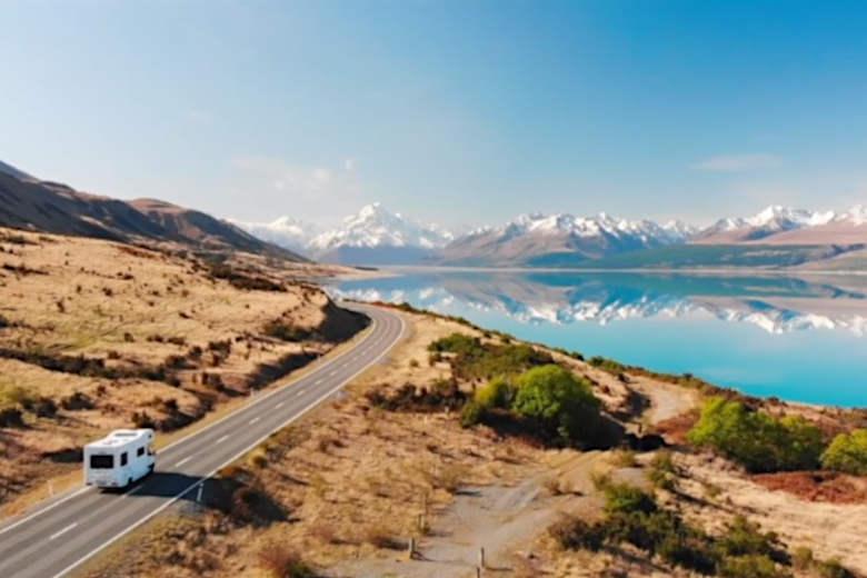 キャンピングカーに乗って、ニュージーランドの旅